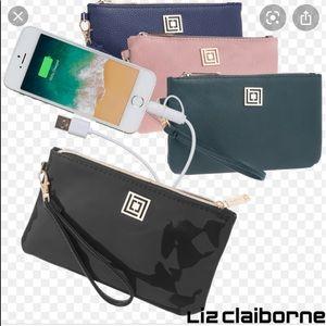Liz Claiborne   Brown Rechargeable Pack Wristlet